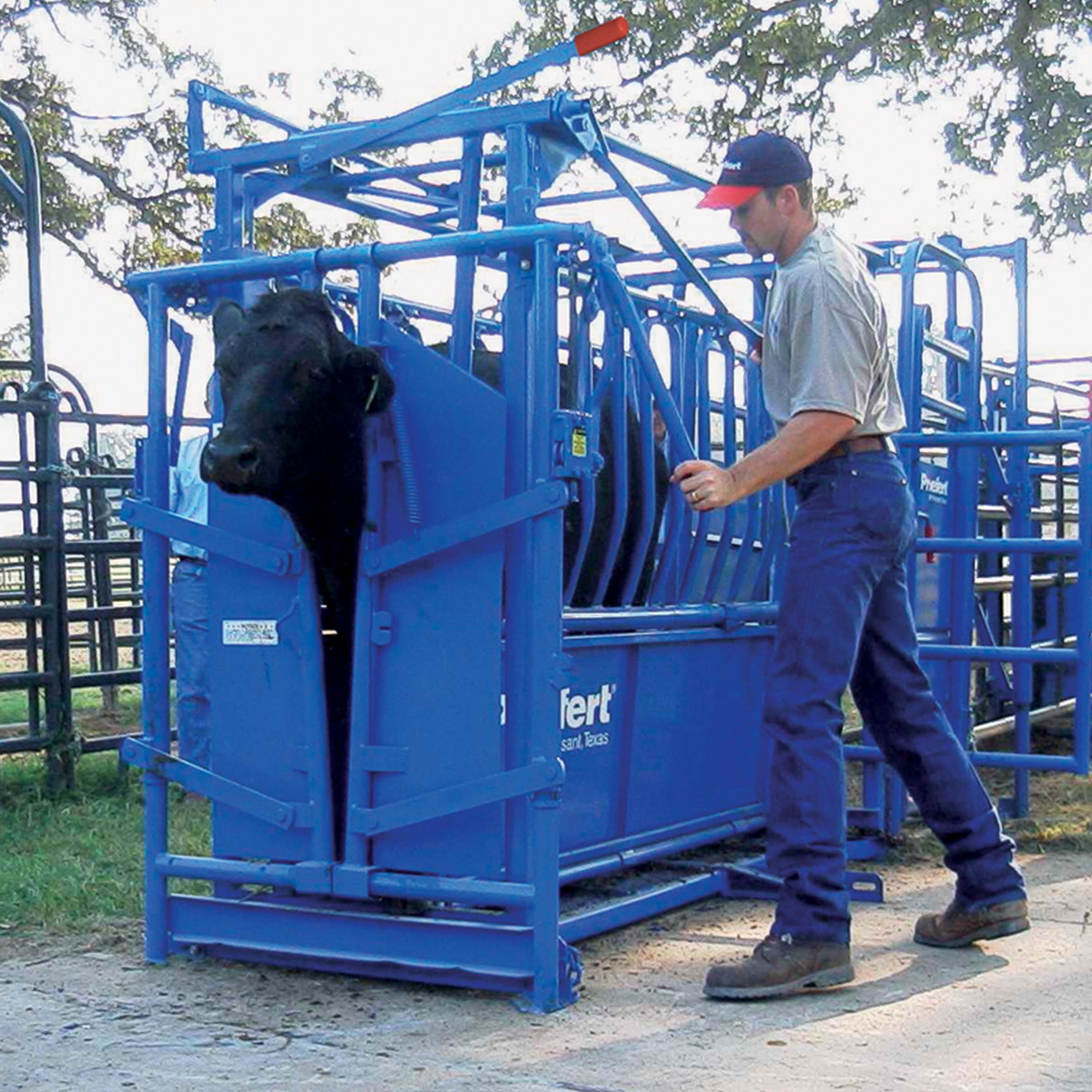 Priefert Ranch Squeeze Chute With Auto Head Gate So191