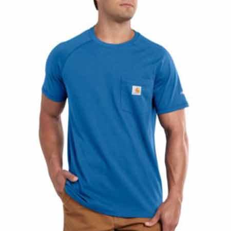 carhartt blue pocket tee