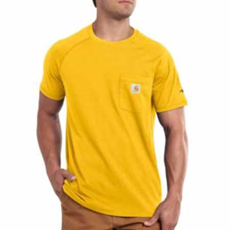 carhartt yellow pocket tee