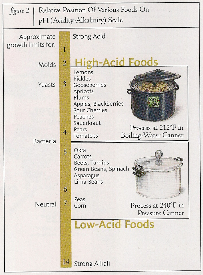 Acid levels of food