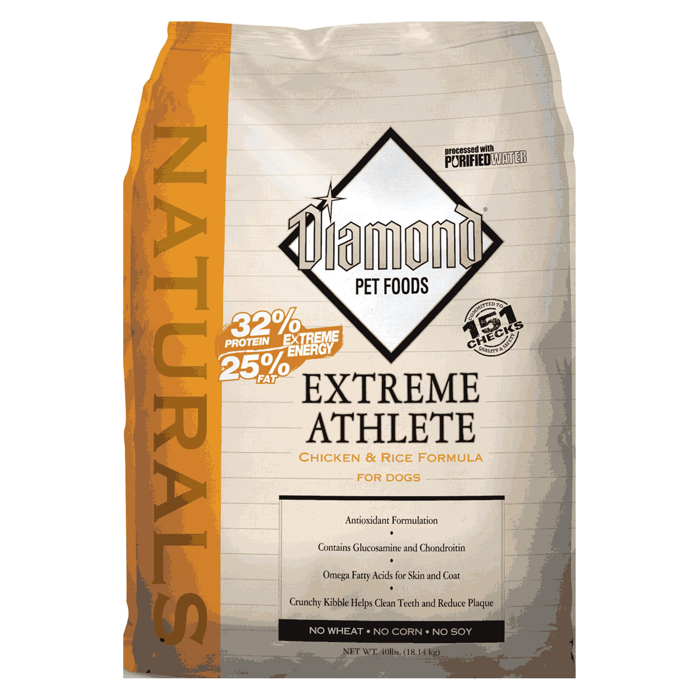 Puppy Diamond Dog Food >> Diamond Naturals Extreme Athlete 40 lb. Dry Dog Food #999401