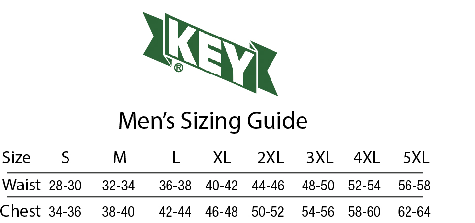 mens key size chart