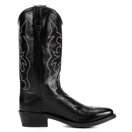Old West Men S Black Western Boot Tbm3010