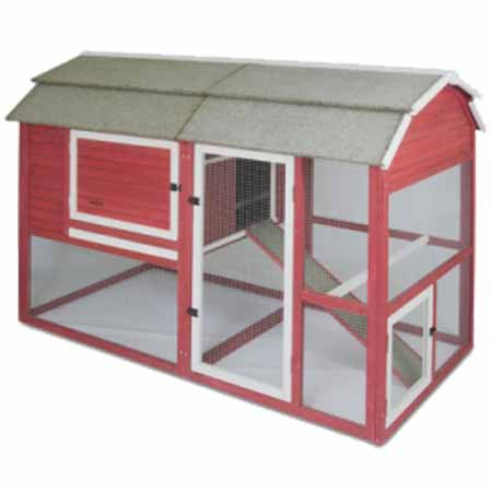 New Look Red Barn Chicken Coop 186343